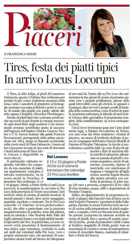 Corriere del Trentino, pag 15 dd 08-06-2013